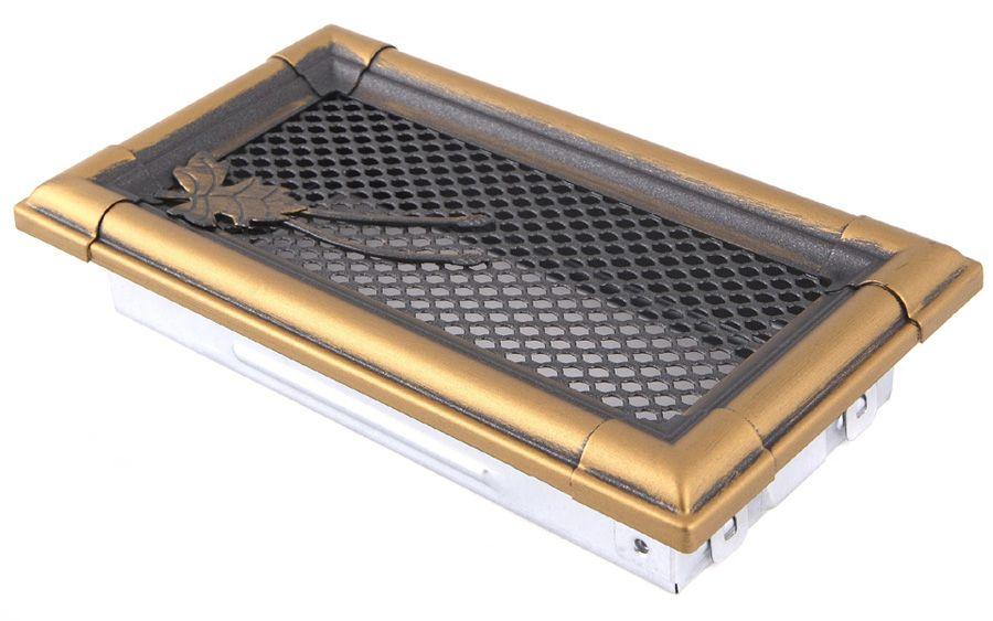 Krbová mřížka 10x20cm RETRO zlatá patina