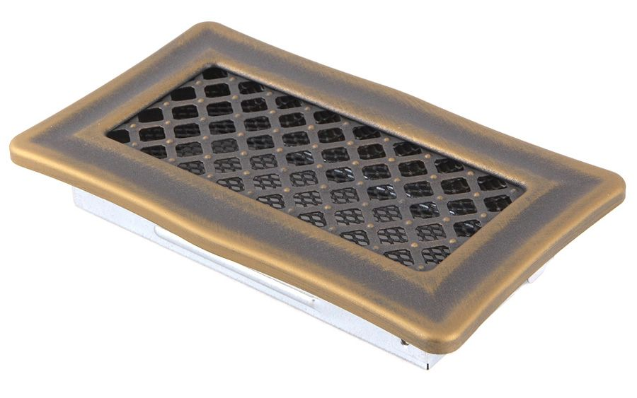 Krbová mřížka 10x20cm DECO zlatá patina