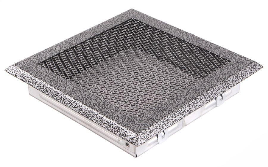 Krbová mřížka 16x16cm staré stříbro