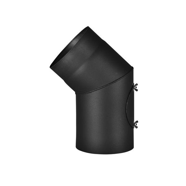 Koleno 45*/145mm/1,5mm s čistícím otvorem (HS FLAMINGO)
