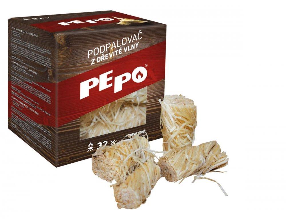 PE-PO podpalovač z dřevité vlny 32 ks