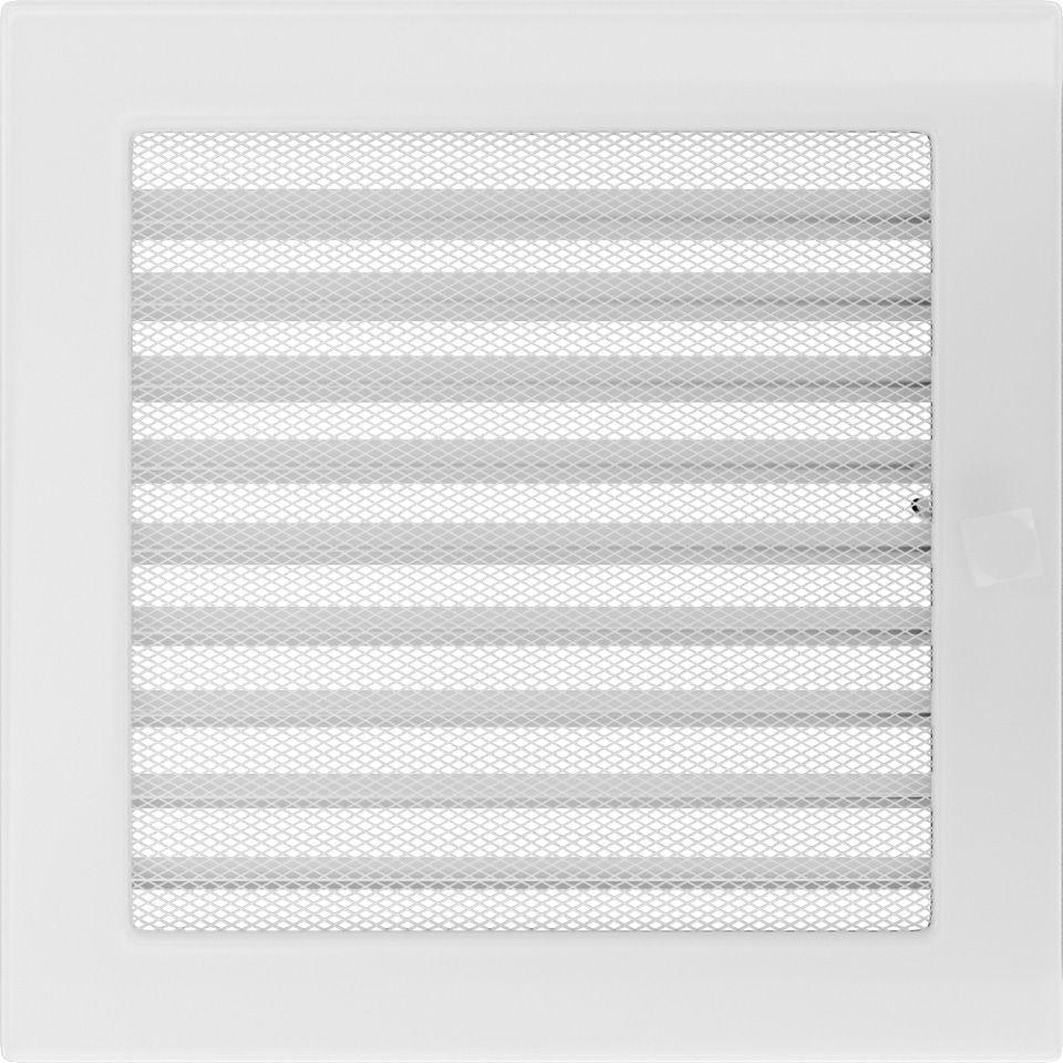 Krbová mřížka 22x22 BASIC bílá s žaluzií