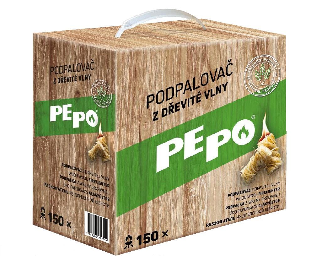 PE-PO podpalovač z dřevité vlny 150 ks