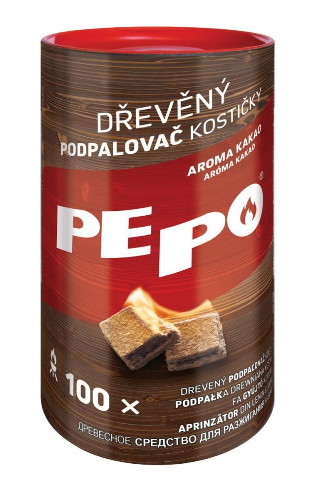 PE-PO dřevěný podpalovač - kostičky 100 ks