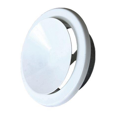 Ventilační talíř výfukový 160 mm bílá